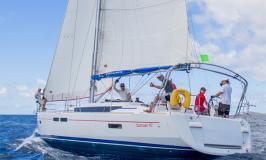 Sunsail 47 en navigation