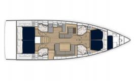 Sunsail 52.4 Layout